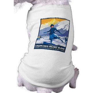 Vintage Chamonix - Mont Blanc Poster Doggie Shirt