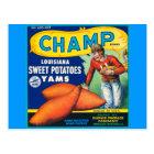 Vintage Champ Brand Sweet Potatoes Ad Postcard