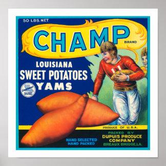 Vintage Champ Sweet Potatoes Poster