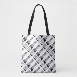 Vintage Champagne Bottle All-Over-Print Tote Bag