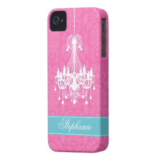Vintage Chandelier and Damask Pattern Case-Mate iPhone 4 Case