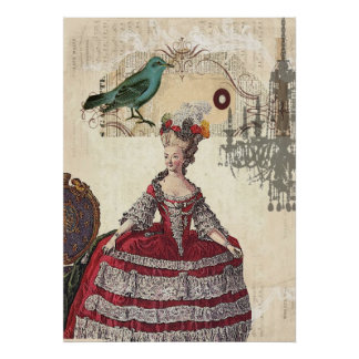 Vintage Chandelier french queen  Marie Antoinette Poster
