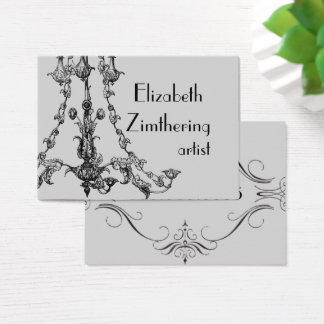 Vintage Chandelier French Style Business Card