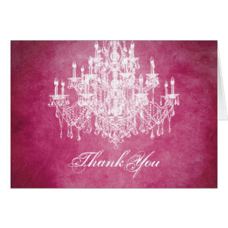 Vintage Chandelier Thank You Card