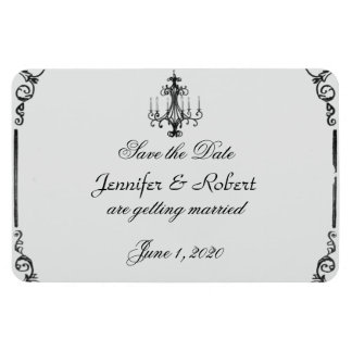 Vintage Chandelier Wedding Save the Date Magnet