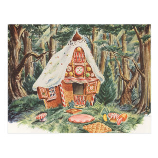 Vintage Change of Address, Hansel and Gretel House Postcard