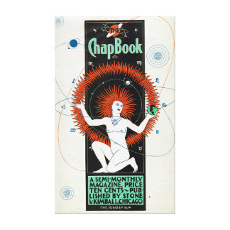 Vintage Chap Book Sun and Planets Solar System Canvas Print