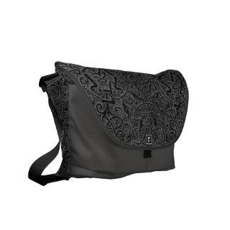 Vintage Charcoal Gray Triskel Steel Messenger Bag