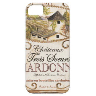 Vintage Chardonnay Label Case For The iPhone 5