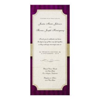 Vintage Charm Ivory Aubergine Monogram Wedding Invitations
