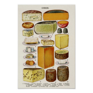 Vintage Cheese Wall Art