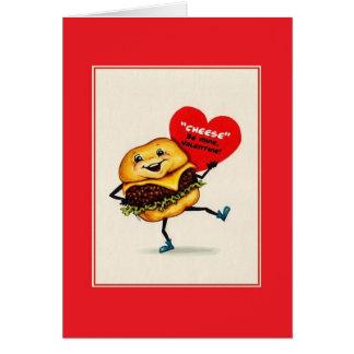 Vintage Cheeseburger Valentine Card