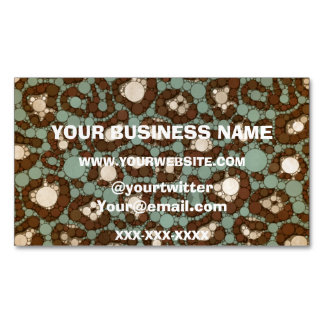 Vintage Cheetah Magnetic Business Card