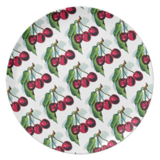 Vintage Cherries Party Plates