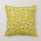 vintage cherry blossom cushion pillow
