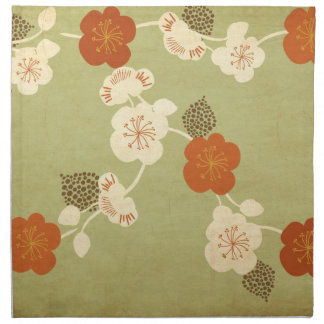 Vintage cherry blossom flowers American MoJo Napki Napkin