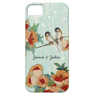 Vintage Cherry Blossom Love Bird Peach Mint iPhone 5 Cover