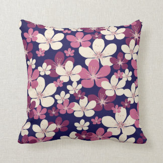 Vintage cherry blossom pillow