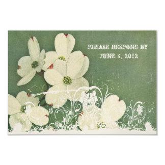 Vintage Cherry Blossom RSVP with envelopes Card