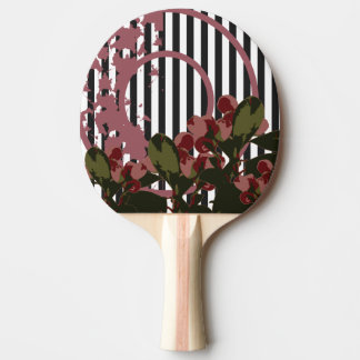 VINTAGE CHERRY Nature Collage Ping Pong Paddle