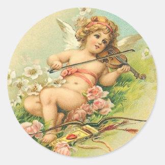 Vintage Cherub and Violin Stickers