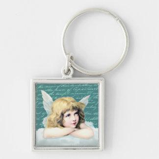 Vintage cherub angel on a cloud key chain