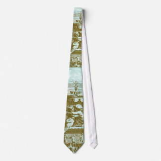 Vintage Cherub Fountain Save the Date Design Tie