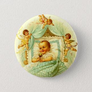 Vintage Cherub New Baby Shower Gift Gender Neutral 2 Inch Round Button
