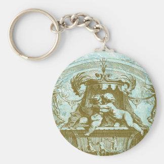Vintage Cherub Save the Date Design Key Chains