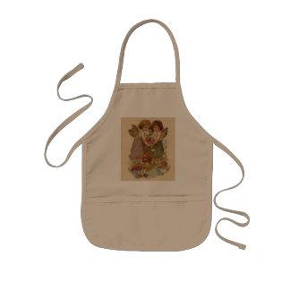 vintage cherub valentine kids apron