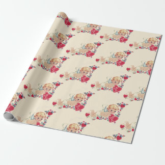 Vintage Cherub Valentine Wrapping Paper