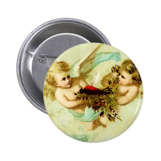 VINTAGE CHERUBS 2 INCH ROUND BUTTON