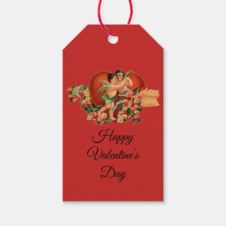 """Vintage Cherubs """"Happy Valentine's Day"""" Gift Tags"""