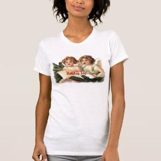 Vintage Cherubs Singing Holiday Joy T-shirts