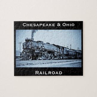 Vintage Chesapeake & Ohio  Railroad Train Engine Puzzles