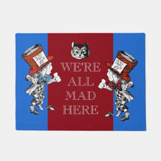 Vintage Cheshire Cat Mad Hatter Doormat