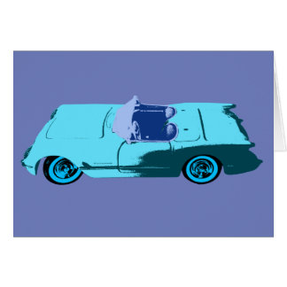 Vintage Chevy Corvette in Blues Card