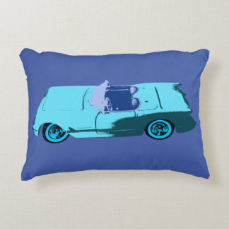 Vintage Chevy in Blues Accent Pillow