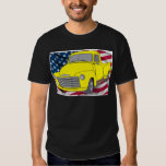 Vintage Chevy Truck with American Flag T-shirts
