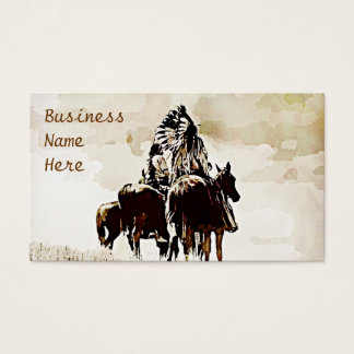 Vintage Cheyenne Warriors Business Cards