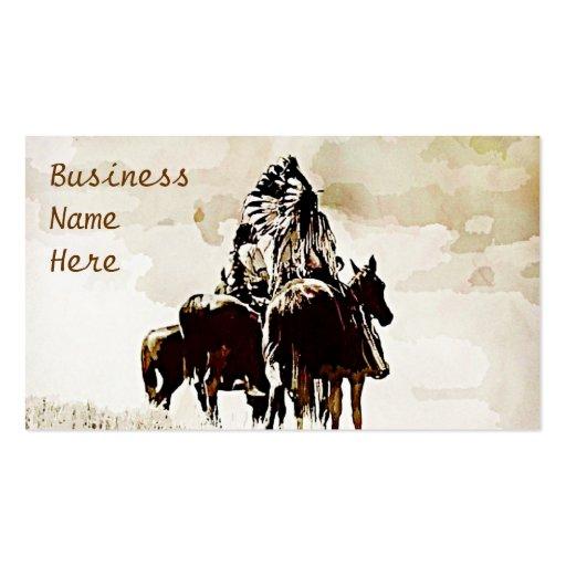 Vintage Cheyenne Warriors Business Cards