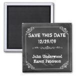 Vintage Chic Chalkboard Look Wedding Save the Date Fridge Magnets