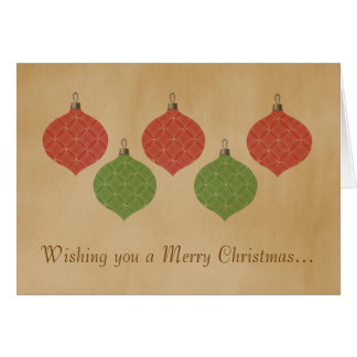 Vintage Chic Christmas Ornaments Greeting Card