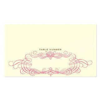 Vintage Chic Escort Card 2 Business Cards