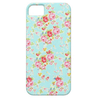 Vintage chic floral roses blue shabby rose flowers iPhone 5 cover