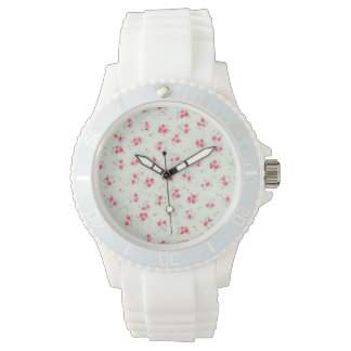 Vintage chic floral roses pink shabby rose flowers watches