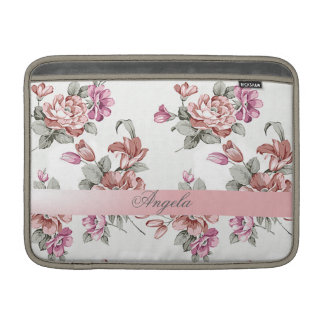 Vintage Chic Girly  Flowers-Personalized Sleeve For MacBook Air