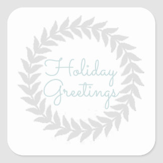 Vintage Chic Holiday Square Sticker