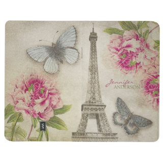 Vintage Chic Paris Personalized journal