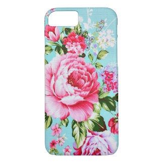 Vintage Chic Pink Floral iPhone 7 case